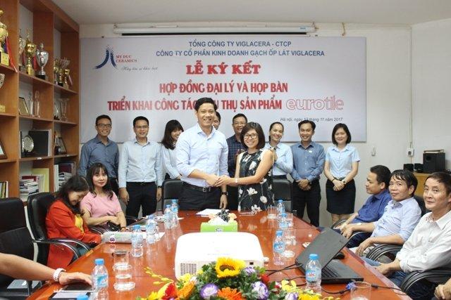 Viglacera ký kết hợp đồng đại lý phân phối chính thức sản phẩm Eurotile